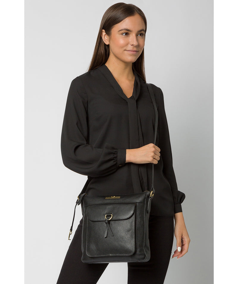 'Holbroke' Black Leather Shoulder Bag image 2