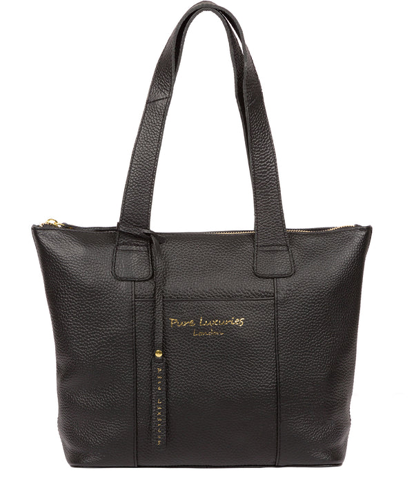 'Dem' Black Leather Handbag image 1