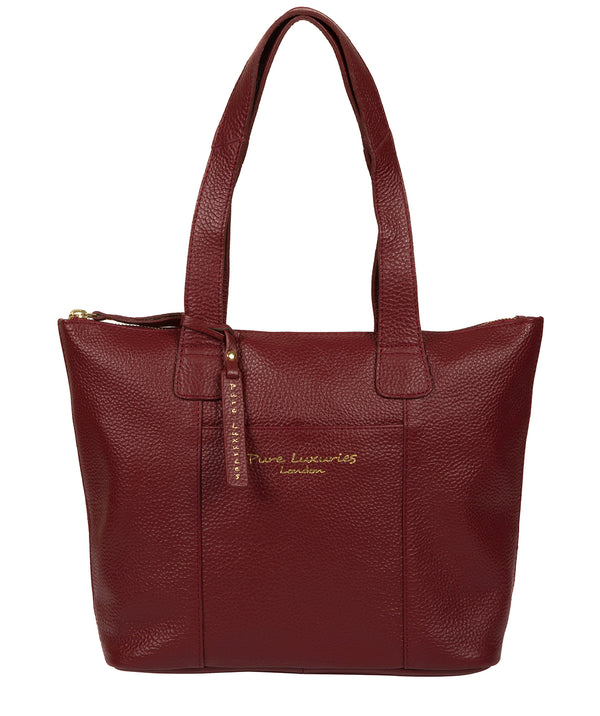 'Dem' Red Leather Handbag image 1