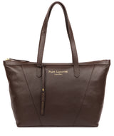 'Kelly' Chocolate Leather Tote Bag image 1