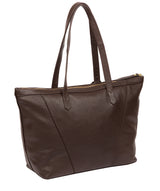 'Kelly' Chocolate Leather Tote Bag image 3