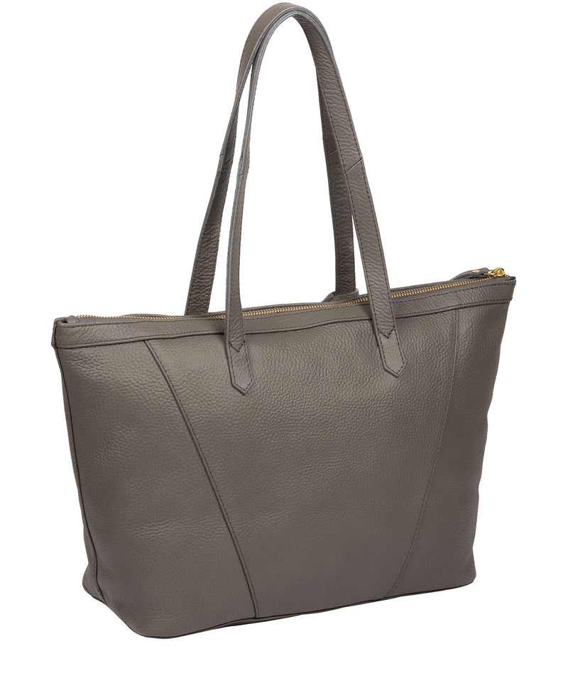'Kelly' Grey Leather Tote Bag image 3