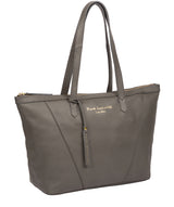 'Kelly' Grey Leather Tote Bag image 5