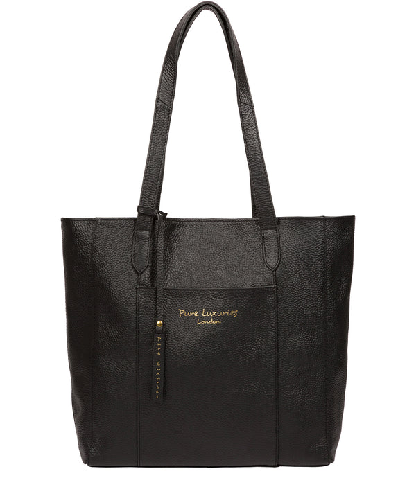 'Keisha' Black Leather Tote Bag image 1