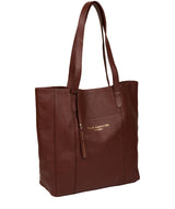 'Keisha' Cognac Leather Tote Bag Pure Luxuries London