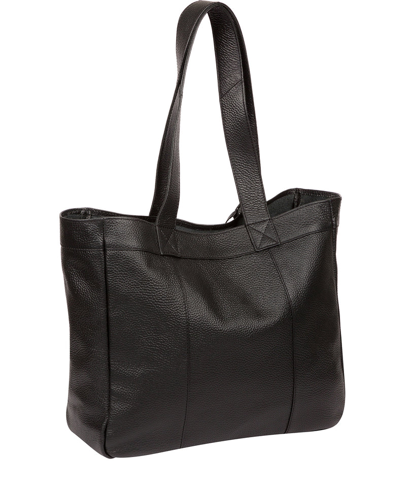 'Melissa' Black Leather Tote Bag  image 3