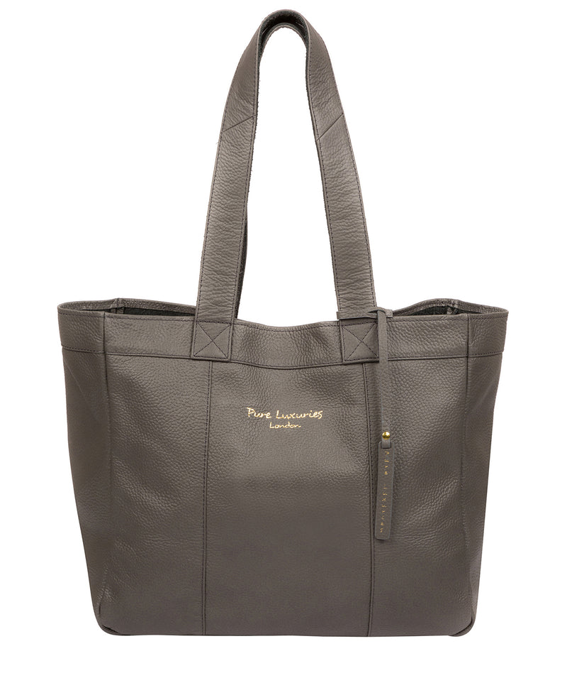 'Melissa' Grey Leather Tote Bag  image 1