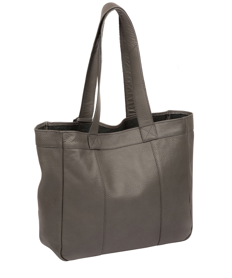 'Melissa' Grey Leather Tote Bag  image 3