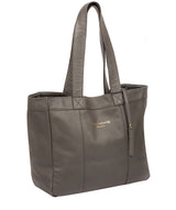 'Melissa' Grey Leather Tote Bag  image 5