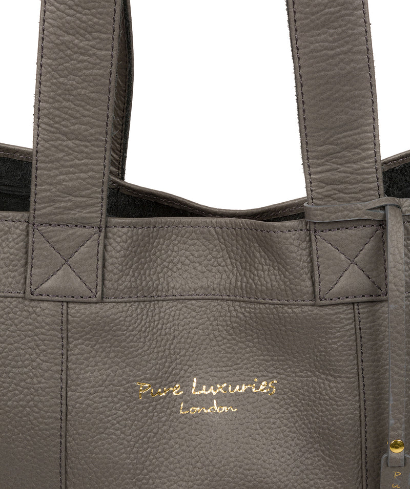 'Melissa' Grey Leather Tote Bag  image 6