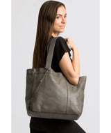 'Melissa' Grey Leather Tote Bag  image 2