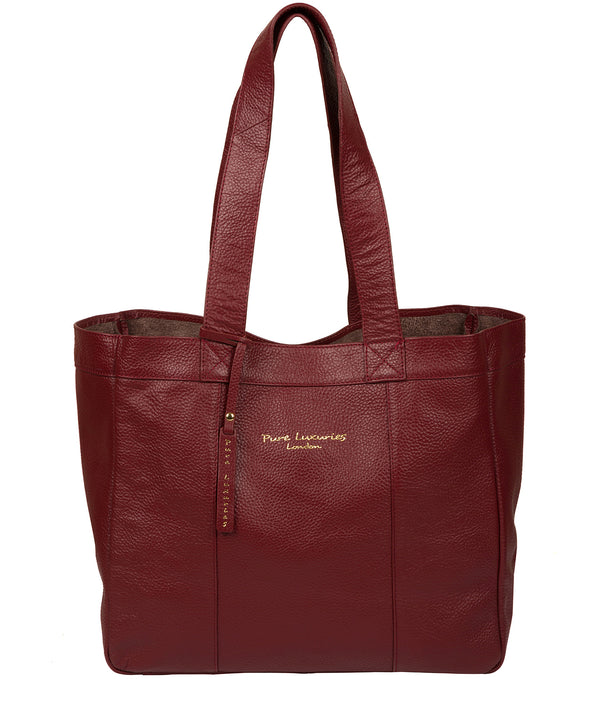 'Melissa' Red Leather Tote Bag image 1