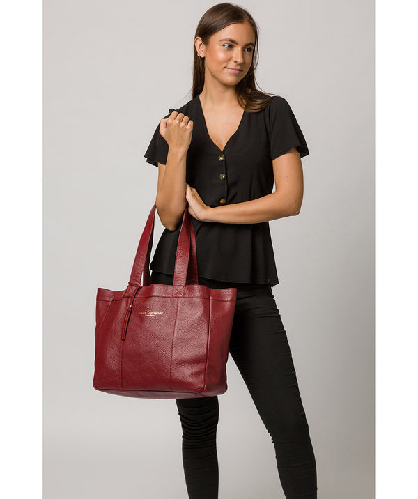 'Melissa' Red Leather Tote Bag image 2