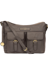 'Frinton' Grey Leather Shoulder Bag image 1