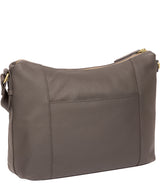 'Frinton' Grey Leather Shoulder Bag image 3