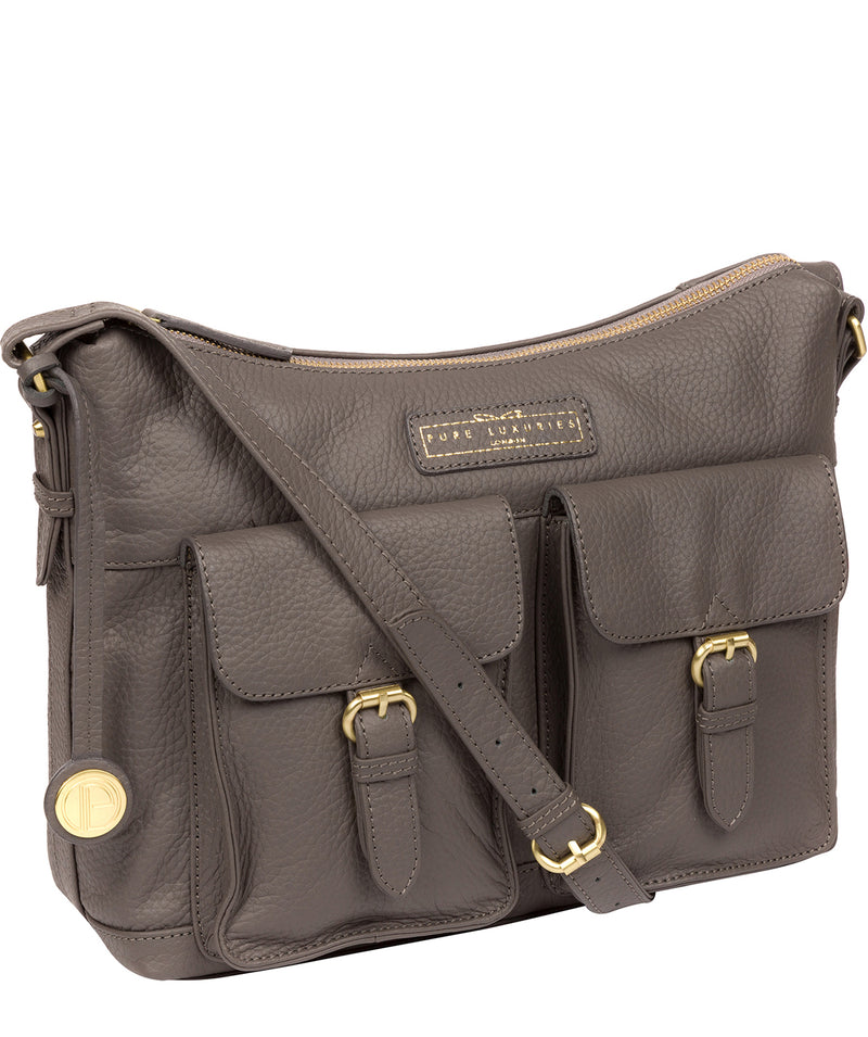 'Frinton' Grey Leather Shoulder Bag image 5