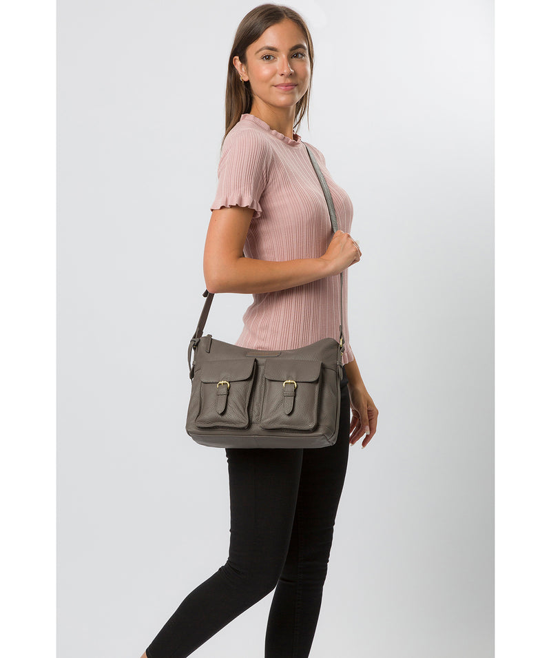 'Frinton' Grey Leather Shoulder Bag image 2