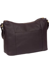 'Frinton' Plum Leather Shoulder Bag image 3