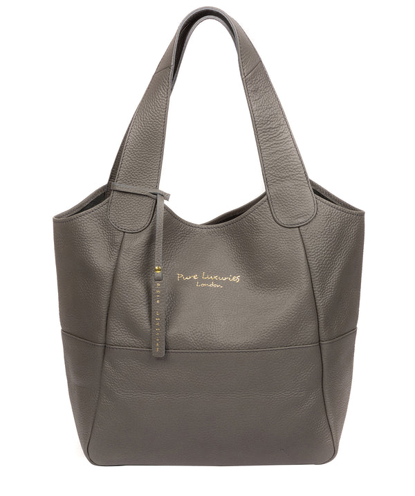 'Freer' Grey Leather Tote Bag image 1