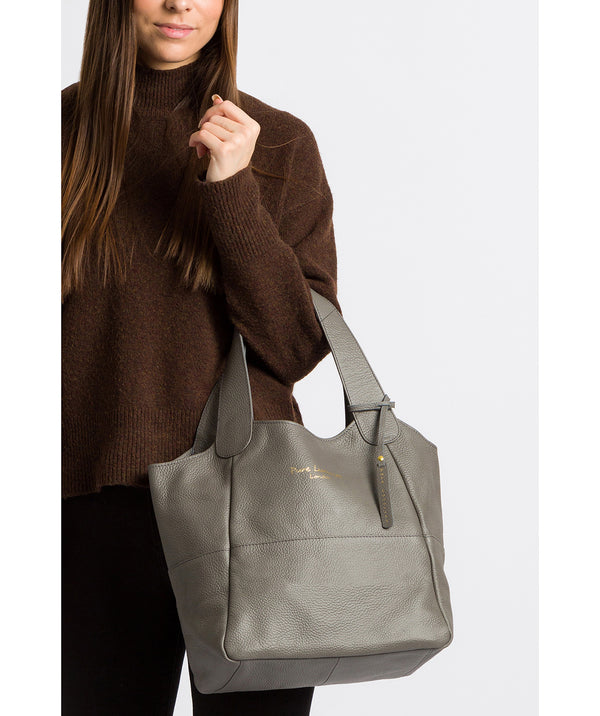 'Freer' Grey Leather Tote Bag image 2