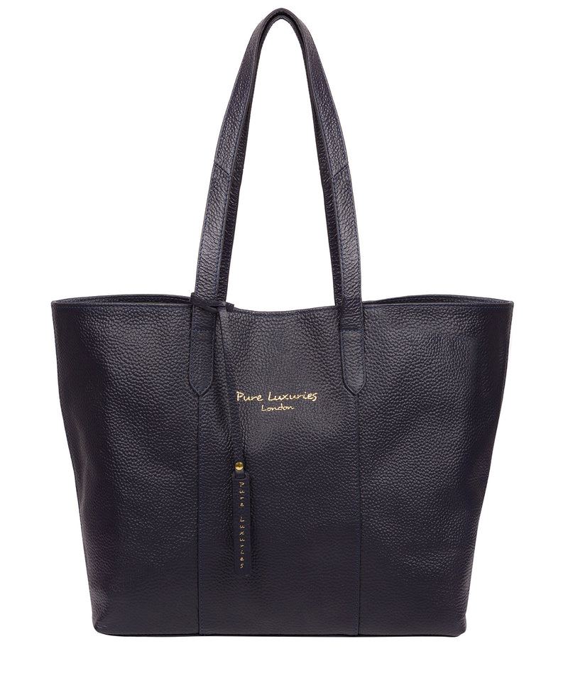 'Hedda' Ink Leather Tote Bag Pure Luxuries London