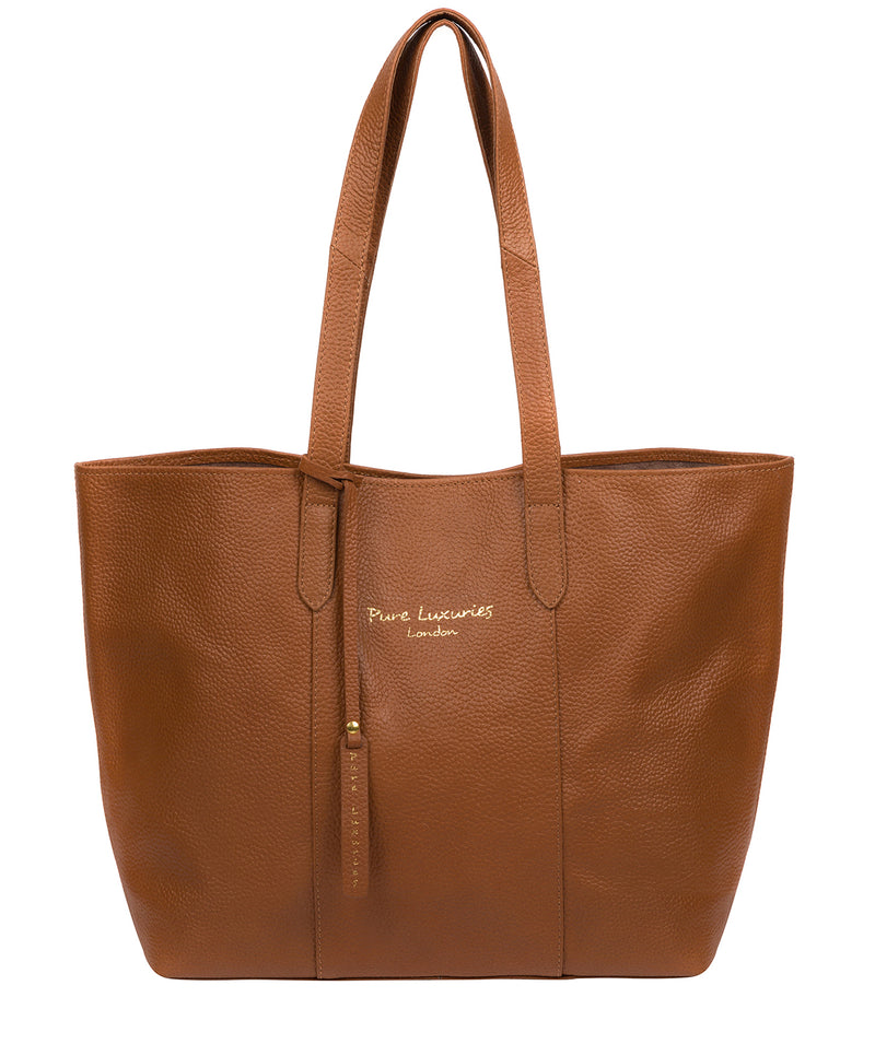 'Hedda' Tan Leather Tote Bag image 1