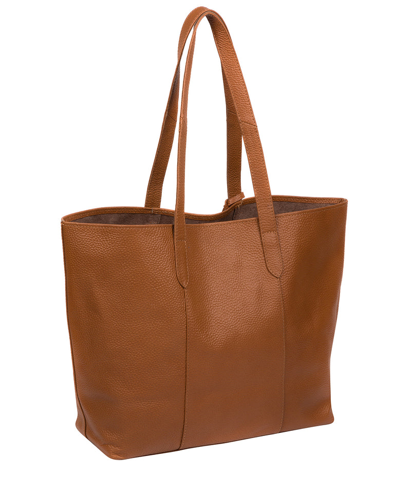 'Hedda' Tan Leather Tote Bag image 3