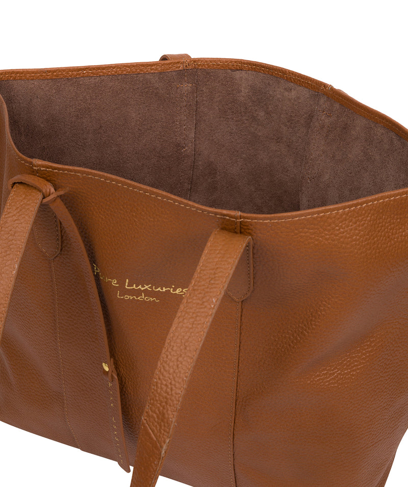 'Hedda' Tan Leather Tote Bag image 4