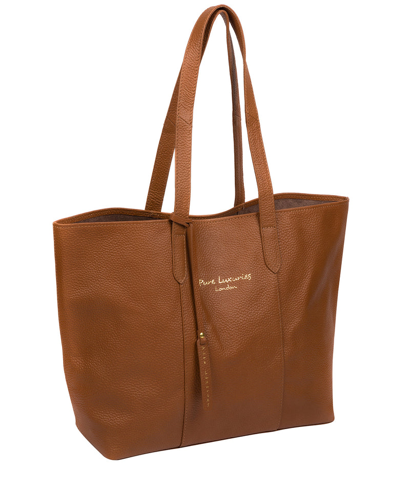 'Hedda' Tan Leather Tote Bag image 5