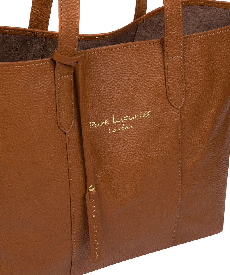 'Hedda' Tan Leather Tote Bag image 6