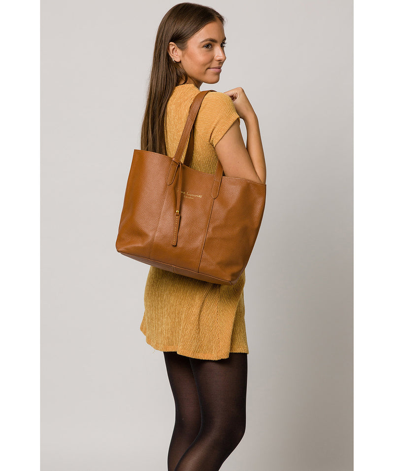 'Hedda' Tan Leather Tote Bag image 2