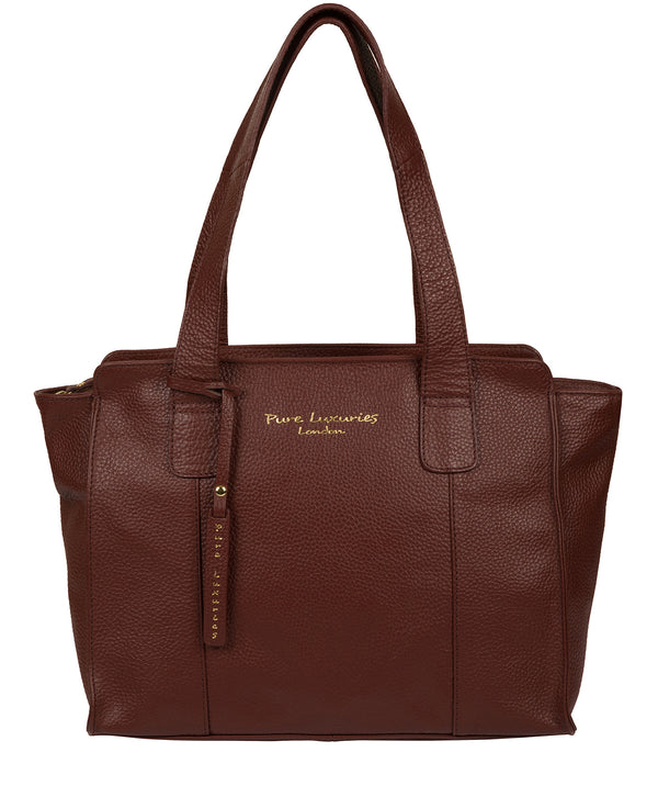 'Alexandra' Cognac Leather Handbag image 1
