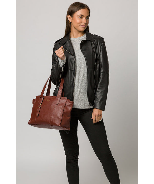 'Alexandra' Cognac Leather Handbag image 2