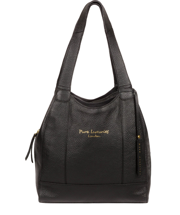 'Colette' Black Leather Handbag Pure Luxuries London