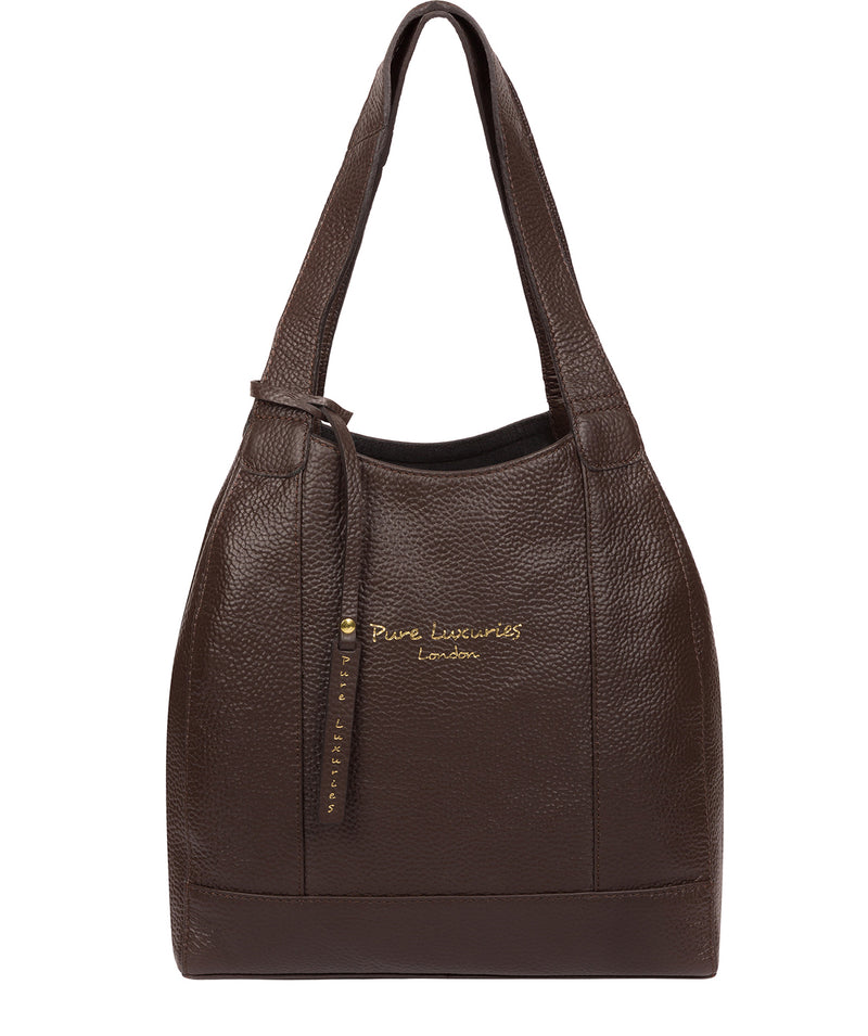 'Colette' Chocolate Leather Handbag image 1