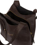 'Colette' Chocolate Leather Handbag image 4