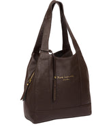 'Colette' Chocolate Leather Handbag image 5