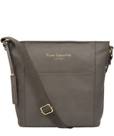 'Tamzin' Grey Leather Shoulder Bag image 1