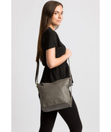 'Tamzin' Grey Leather Shoulder Bag image 2