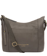 'Lachele' Grey Leather Shoulder Bag  image 1
