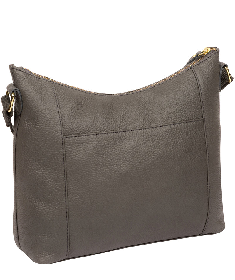 'Lachele' Grey Leather Shoulder Bag  image 3