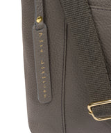 'Lachele' Grey Leather Shoulder Bag Pure Luxuries London