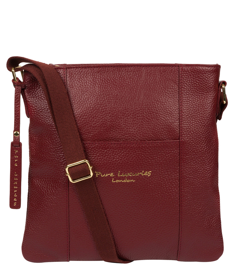 'Kayley' Red Leather Cross Body Bag image 1