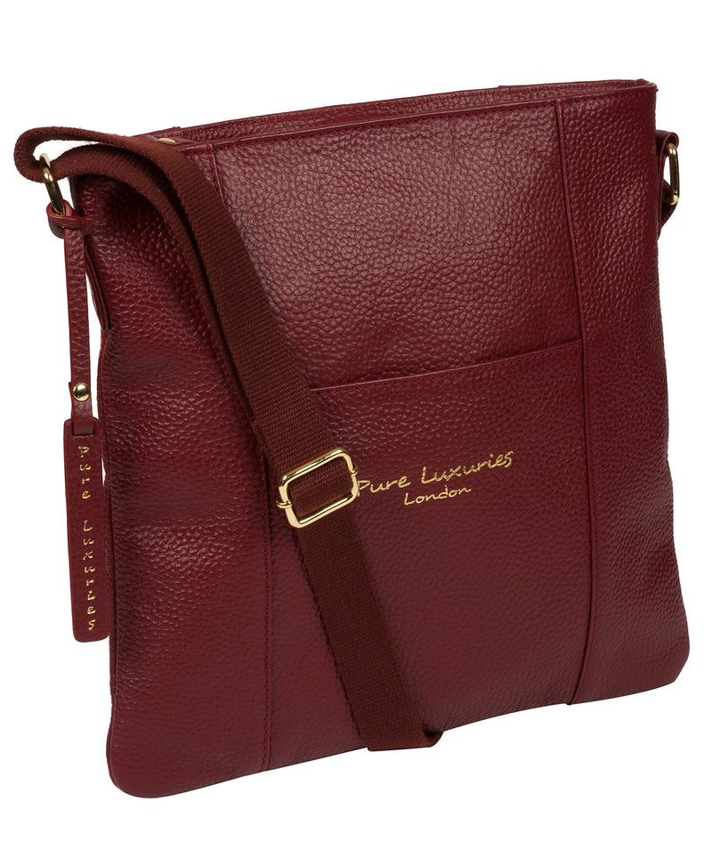 'Kayley' Red Leather Cross Body Bag image 3