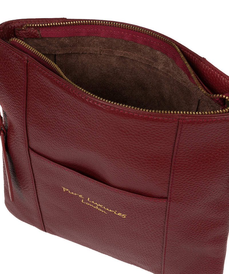 'Kayley' Red Leather Cross Body Bag image 4