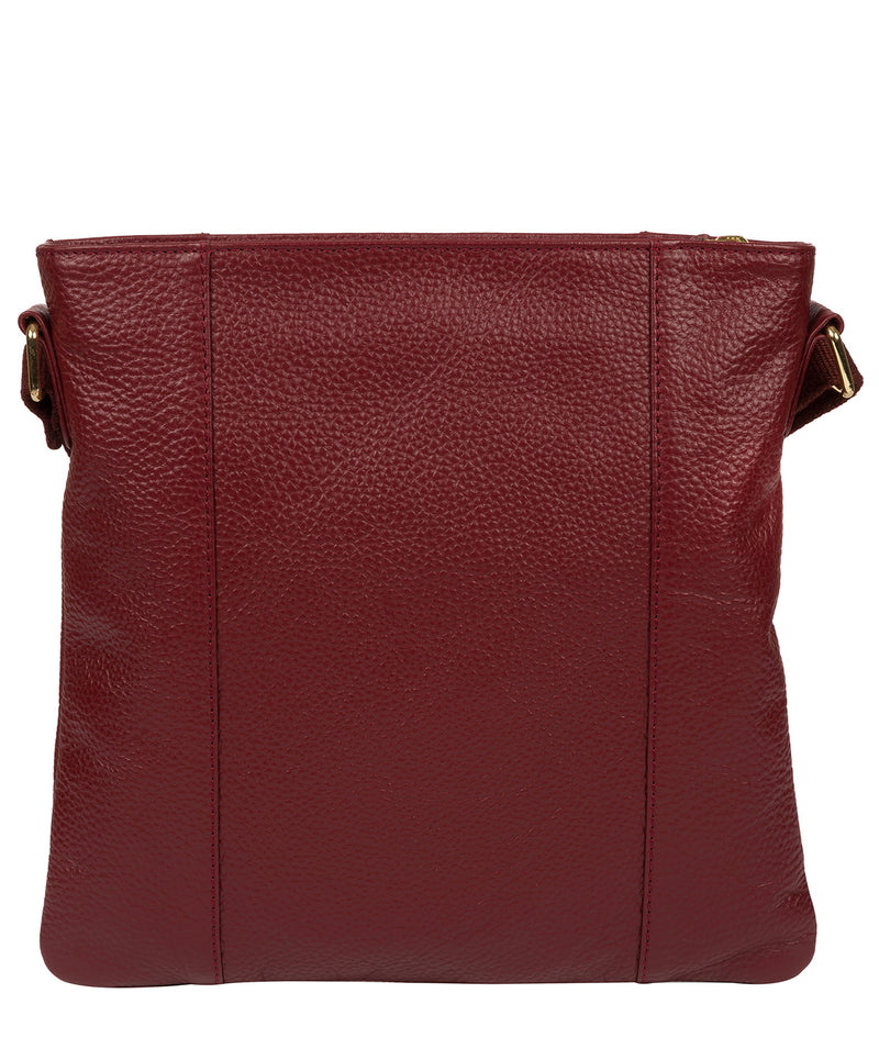 'Kayley' Red Leather Cross Body Bag image 5