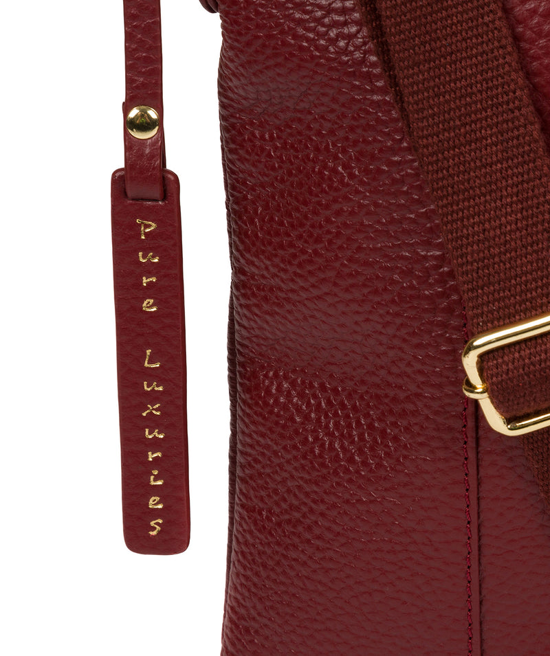 'Kayley' Red Leather Cross Body Bag image 6