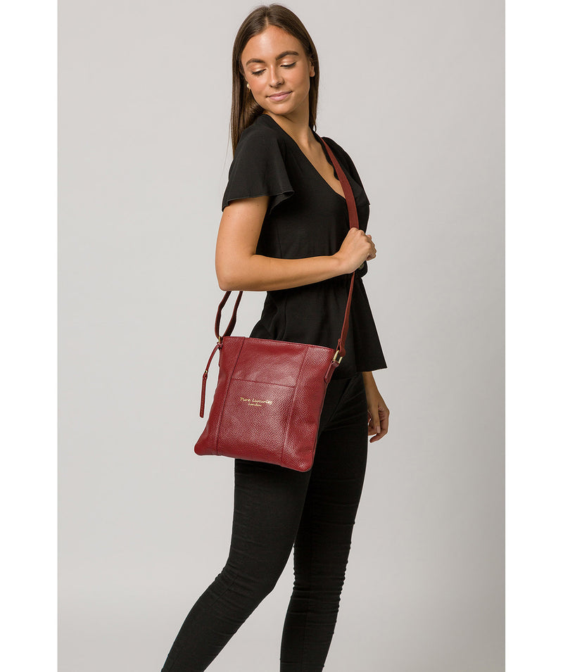 'Kayley' Red Leather Cross Body Bag image 2