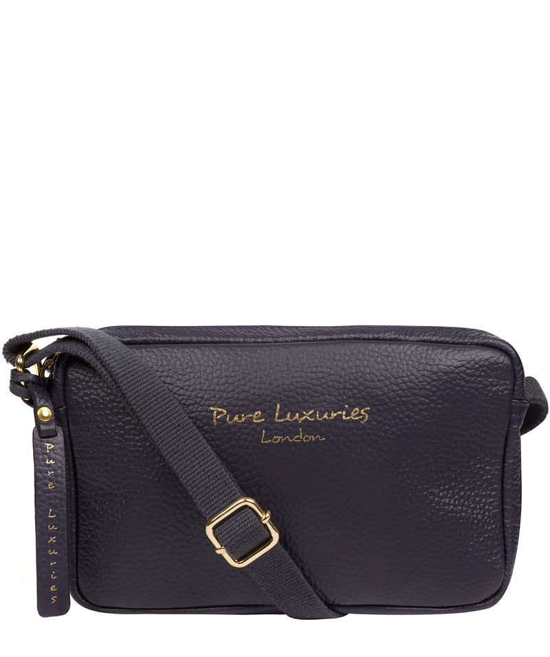 'Laine' Ink Leather Cross Body Bag image 1