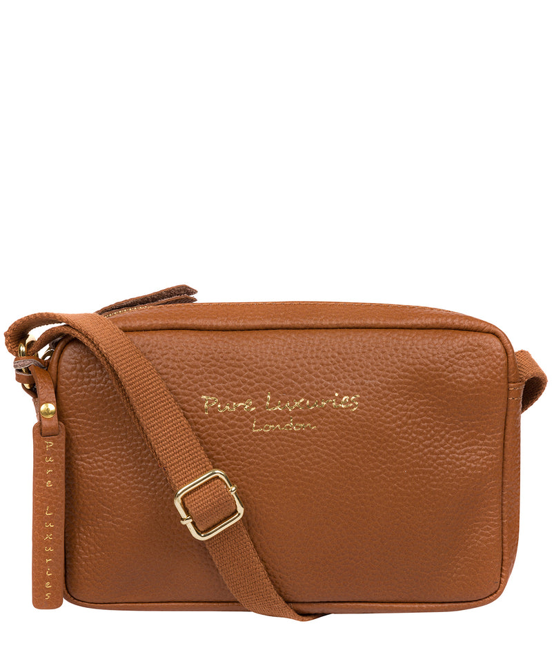 'Laine' Tan Leather Cross Body Bag image 1